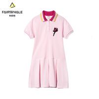 【1件5折折后价131.4】马克华菲童装女童连衣裙2019夏新款儿童粉色纯棉上衣韩版洋气外套