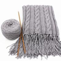 手工diy编织送男友女自织围巾毛线团粗线球情人牛奶棉材料包