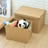 牛皮纸质学生装书箱子收纳箱档案纸盒有盖大号搬家储物整理箱