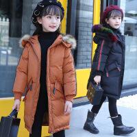女童棉衣装中长款洋气外套2017新款加厚毛领棉袄儿童羽绒潮