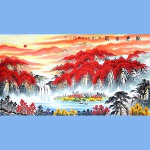 中国青年美术家协会常务理事,中国山水画院专业画家,国家一级美术师高云鹏(鸿运当头)8