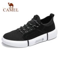 camel骆驼男鞋 秋季新款潮流运动鞋飞织拼接袜套轻盈运动休闲鞋