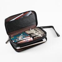 皮钥匙包手机包零钱包 手拿包照夹卡包 多功能包韩男式女式