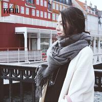 围巾女冬季韩版百搭纯色围脖长款加厚保暖潮时尚百搭学生披肩
