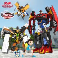 正版咖宝车神第一季王牌车手变形机器人玩具金刚卡咔伽阿哈男孩警车跑车变形玩具