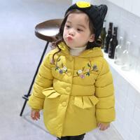 棉衣女童2017新款韩版公主外套洋气宝宝小棉袄儿童装装羽绒