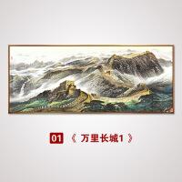 万里长城挂画老板办公室挂画山水壁画企业墙画