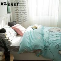 [当当自营]wz.baby全棉三件套单人1.2m床猫家族