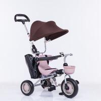 儿童三轮车折叠手推车宝宝脚踏车婴儿自行车1-3充气轮童车