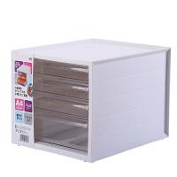 办公室抽屉式桌面收纳盒大号文件文具收纳柜塑料收纳整理箱