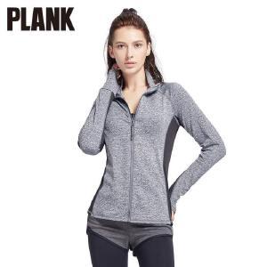 比瘦PLANK立领运动外套女拼接拉链衫长袖弹力修身跑步瑜伽健身服秋冬  PK032