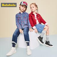 巴拉巴拉男童板鞋女童透气小白鞋年新款春秋小童潮鞋儿童鞋子
