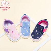 富罗迷学步鞋女童宝宝秋季新款公主婴儿鞋软底舒适鞋0-3-5岁单鞋