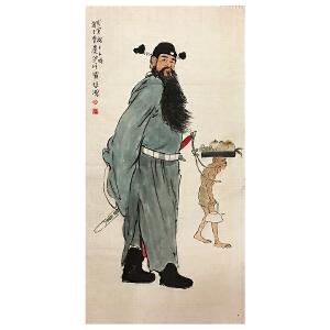 徐悲鸿《钟馗图》著名画家
