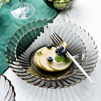 玻璃菜盘子透明家用创意网红早餐水果创意可爱碗套装ins风西餐具