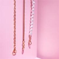 女士包包链条单肩斜跨手提链子蛇链珍珠链条圈圈链子包包配件五金