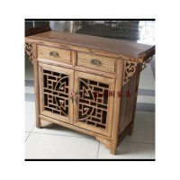 实木鞋柜 榆木仿古家具储物柜餐边柜 鞋柜翘头柜中式古典 整装