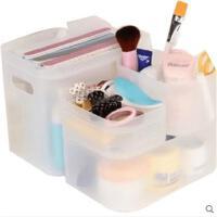 塑料收纳盒梳妆台化妆品整理盒桌上置物储物盒子