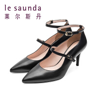 【全场3折】莱尔斯丹 春婚鞋尖头细跟高跟玛丽珍鞋一字带单鞋 9M87113