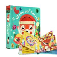 【中商原版】Little faces百变脸谱系列 Wake Up Santa 立体变景书 变脸操作书
