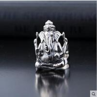 时尚霸气个性韩版食指潮人首饰 泰银925银象神戒指男款欧美