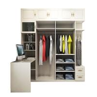 卧室转角电脑桌书桌衣柜组合现代简约书桌书柜衣柜一体