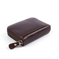 新款玛轮特卡包风琴造型零钱包复古牛皮钥匙包卡包定制 咖啡