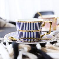 英式轻奢陶瓷咖啡杯欧式小咖啡杯碟套装家用下午茶杯子勺