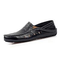 罗兰船长  透气休闲懒人套脚鞋镂空皮鞋子