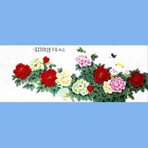 北京著名工笔画画家,北京市美协会员凌雪(花开富贵)13