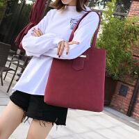 磨砂女包大包包新款韩版潮托包时尚手包简约休闲单肩包