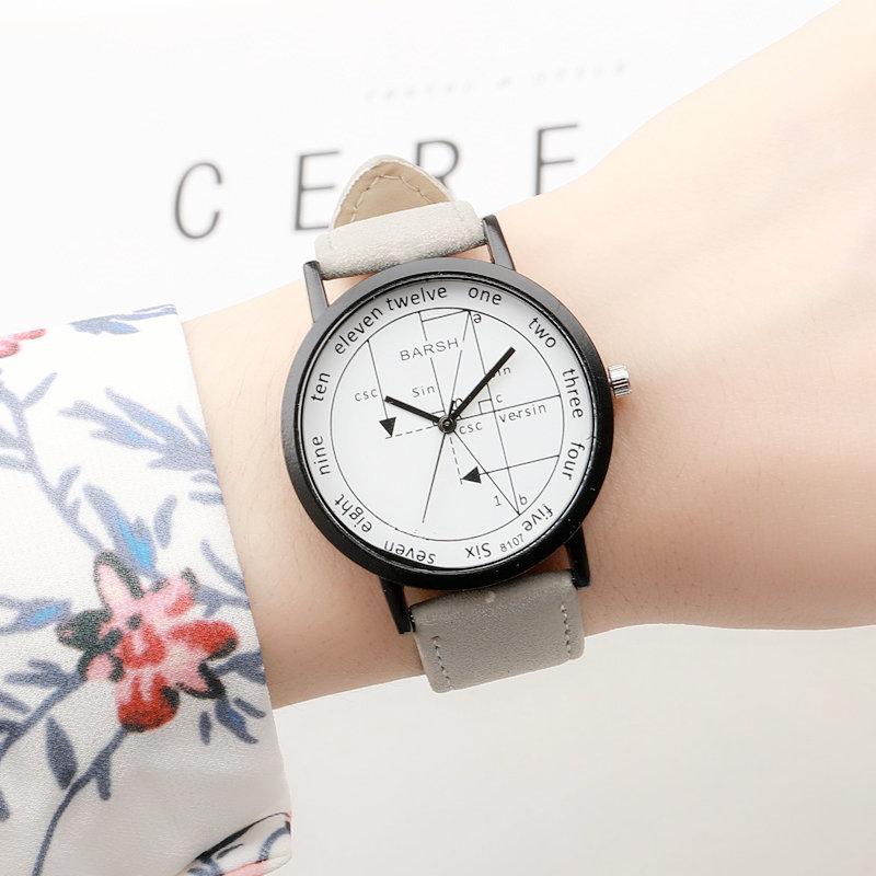 韩版原宿风时尚简约潮流复古大表盘男女学生手表新款学霸情侣腕表