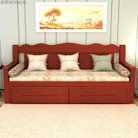 实木沙发床客厅1.8双人推拉坐卧两用多功能伸缩抽拉床小户型 1.8米-2米