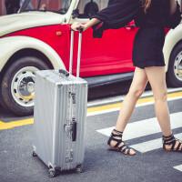 复古拉杆箱万向轮24行李箱学生密码箱26铝框旅行箱20登机箱子男女