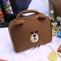 化妆包可爱少女心布朗熊 品收纳包小号便携旅行大容量多功能