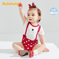【迪士尼IP款】巴拉巴拉婴儿衣服新生儿连体衣包屁衣宝宝爬爬服周岁夏