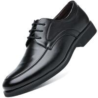 波图蕾斯新款皮鞋男鞋系带商务休闲鞋时尚英伦正装鞋