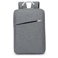 华硕新款英伦戴尔联想苹果电脑包双肩包15.6寸男女背包休闲商务包 15.6英寸