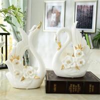 摆件 欧式陶瓷摆件 家装饰品创意摆件 客厅工艺品 家居摆件天鹅摆件