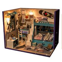 diy小屋 手工拼装模型别墅房子建筑玩具创意女生 圣诞节礼物