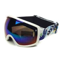 滑雪镜 雪地护目镜 双层可卡近视滑雪眼镜 大视野
