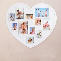 创意连体相框组合6 7 10寸全家福相框结婚照相框像框挂墙Q 白色