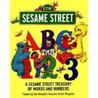 英文原版 芝麻街:学单词和数字 ABC and 1,2,3: A Sesame Street Treasury of W