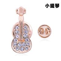 胸针女韩版刺马针 水钻西装胸花 时尚 流行饰品