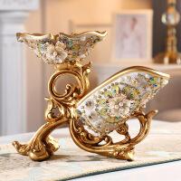 红酒杯架欧式摆件客厅奢华酒柜装饰品高脚酒杯架美式家用葡萄酒瓶架
