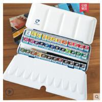 荷兰凡高水彩颜料泰伦斯伦勃朗梵高固体水彩颜料新款36色蓝铁盒水彩颜料