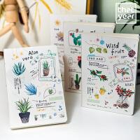 那一年 植物篇 原创手帐本裸装本册32K日韩创意文具日记本 颜色图案随机当当自营