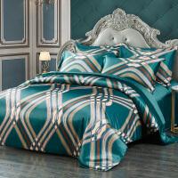 真丝四件套100桑蚕丝床上用品真丝被套床单婚庆丝绸床品套件