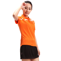 满百包邮  佛雷斯/FLEX 专业羽毛球服 短袖T恤QW9037B橙色透气速干