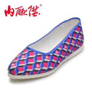 内联升女鞋【迪士尼】米妮系列混格手工千层底老北京布鞋8262A